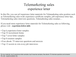 Telemarketing Resume Samples Telemarketer Resume Sample ...