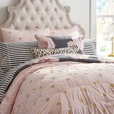 pink comforter set twin light bedding pbteen 19