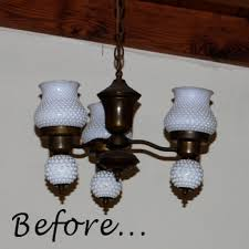 lovely milk glass chandelier of amber dusick redo when brass goes black