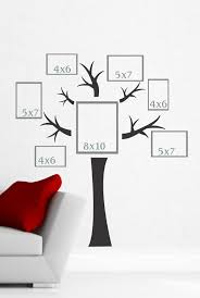 >tree wall decal with branches vinyl stickers popular wall art  tree wall decal photo collage wall art