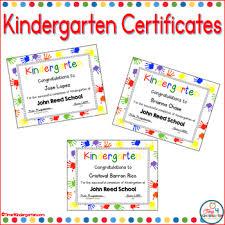 Completion Certificates Kindergarten Certificates Completion Diploma Editable