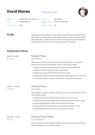 Personal Trainer Resume Example Objective Sample Examples Cv
