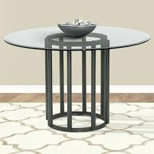 round metal dining table with glass top living contemporary round metal dining table in mineral finish