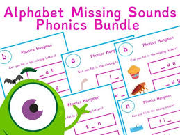 Containing 4 different worksheets, this lovely workbook allows your class to practise key skills such as letter formation, recognising and matching letters in lowercase and capital form, spelling, and blending. Alphabet Missing Phonics Sounds Worksheet Bundle 28 Pages Phonics Resources Teaching Resources