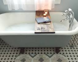 Bathtub Tray Save Over 100 With This Diy Wooden Bathtub Caddy Tutorial Tfd Style