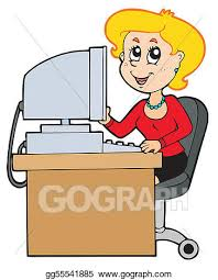 secretary desk clipart. Contemporary Desk Cartoon Secretary Throughout Secretary Desk Clipart