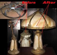 antique slag glass lamp repair design ideas