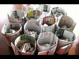 Small Picture Newspaper Crafts DIY Useful Decorative Things Recycle Waste