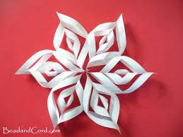 Construction Paper Snowflakes 3d