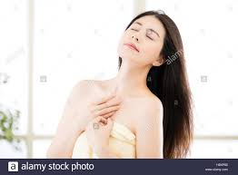Asian women in the shower