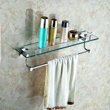 glass shelf with rail shelves towel bar bath antique chrome r