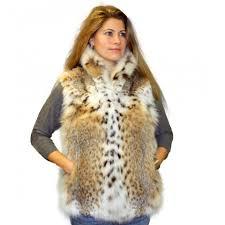 women s montana lynx bobcat cat fur vest