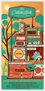 best images about poster design american 2015 outside lands triptych poster set