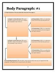 Literary Analysis Essay Graphic Organizer For Teaching Essay