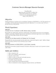 Customer Service Manager Resume Sample Resume For Food Service