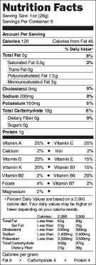 good health natural s veggie stix nutrition label