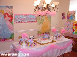 Princess party cake table decorations party favors