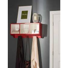 Wall Mounted Coat Rack Home Depot Custom Red Coat Rack Entryway Furniture Furniture The Home Depot