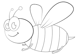 Small Picture Cartoon Bee coloring page Free Printable Coloring Pages