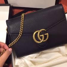 預購 gucci gg marmont leather mini chain bag 預購在carou