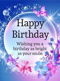 shining bubble happy birthday card