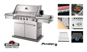 small image of napoleon prestige pro natural gas bbq grill with free cover