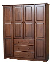 palace imports family mocha solid wood wardrobe to enlarge