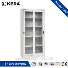 china office manufactuer full height glass sliding door storage file cabinet
