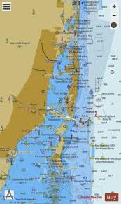 Florida Depth Chart West Palm Beach To Miami Florida Marine Chart