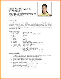 Resume Formats Examples Resume format sample of 660 660 cool examples resumes philippines 60 51