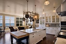 Pot Rack With Lights From Ceiling Home Design Ideas Pot Rack Unique Famous Kitchen Designers