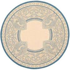 round outdoor rug courtyard natural blue 7 ft x 7 ft round indoor outdoor area outdoor round outdoor rug