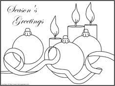 Small Picture christmas candle coloring pages Candles Lanterns FREE