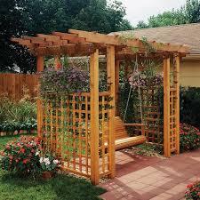 garden arbor getaway woodworking plan