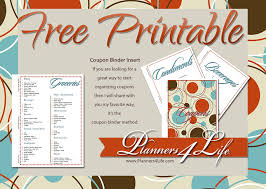 Printable Binder Inserts Freebies Coupon Binder Inserts Retro