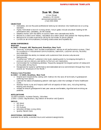 7 Nurse Resume Objective Mla Cover Page