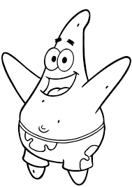 Spongebob Squarepants Coloring Pages Patrick Star Coloringstar