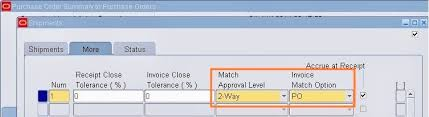 What Are Match Approval Level And Invoice Match Options
