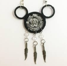 Mickey Mouse Dream Catcher Awesome Compass Mickey Mouse Dream Catcher Rear View Mirror Accessory
