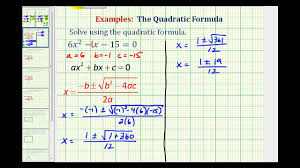 ex quadratic formula two real rational solutions