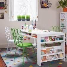 Kids art desk with storage