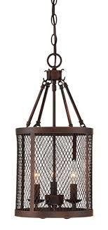 akron brushed bronze wire mesh drum foyer light 10 wx20 h