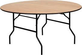 folding table 60 round wood folding banquet table with clear coated finished top