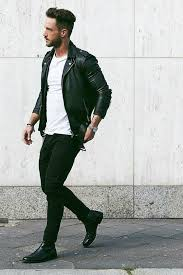 all black look with a white tee