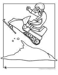 Small Picture winter coloring pages snowmobile page classroom jr Window art
