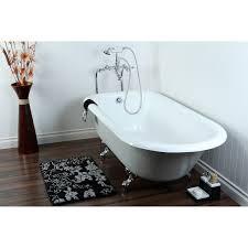 kingston brass aqua eden 67 cast iron roll top bathtub with polished chrome feet