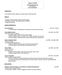 Animator Resume Resume Jason Holm Animator Rigger 97