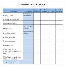 5 Construction Estimate Templates Free Word Excel Pdf House Estimate
