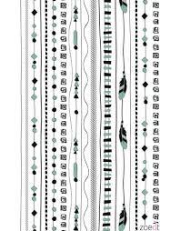 Behang Met Patroon Van Draden In Wit Zwart En Groen Zoedt