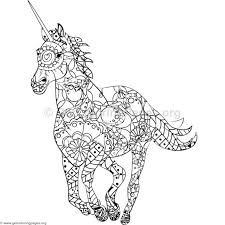 Animal Mandala Coloring Pages Pdf Unicorn
